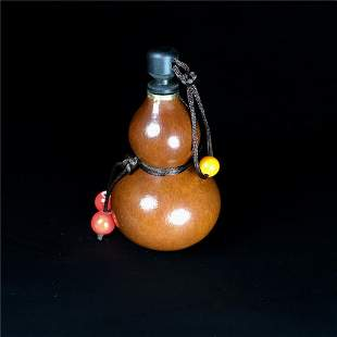 Chinese Double Gourd Moulded Ewer