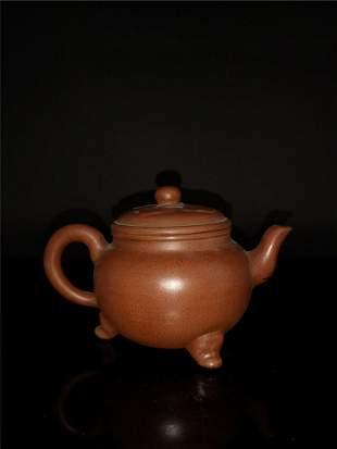 Chinese Zisha Teapot and Cover.(Mark of Shi dabin)