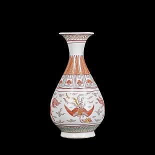 Chinese Red Porcelain Vase