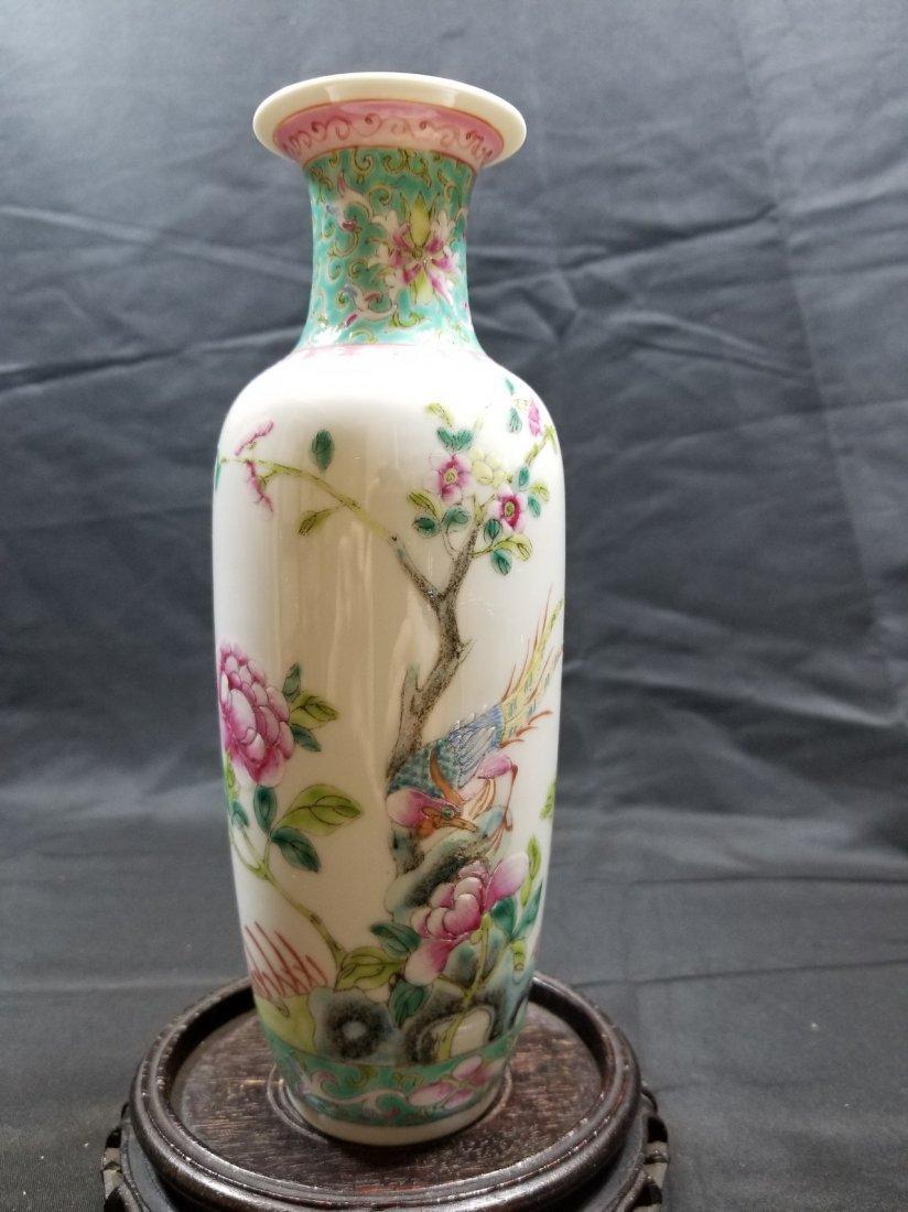 Vintage Chinese famille rose porcelain vase