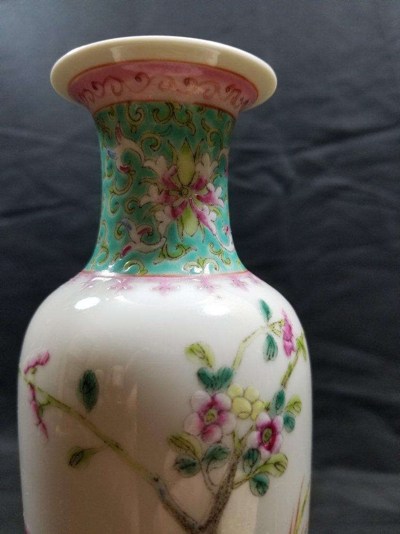 Vintage Chinese famille rose porcelain vase - 2