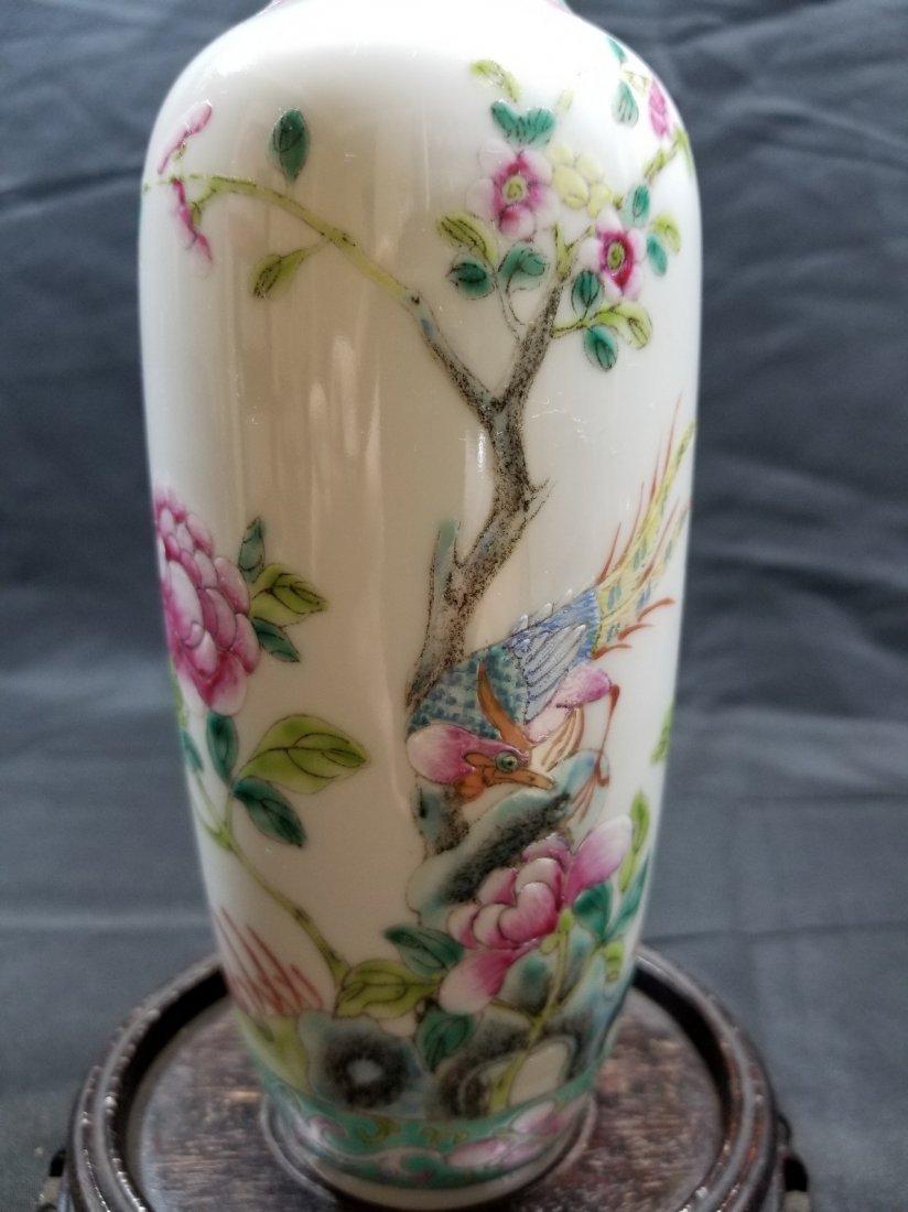 Vintage Chinese famille rose porcelain vase - 3