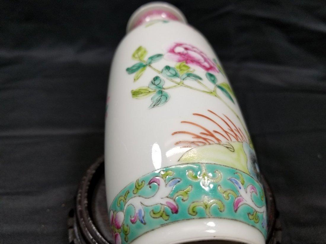Vintage Chinese famille rose porcelain vase - 7