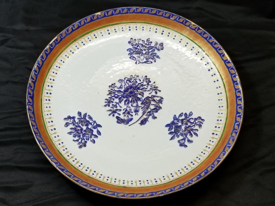 A large Chinese export  plate