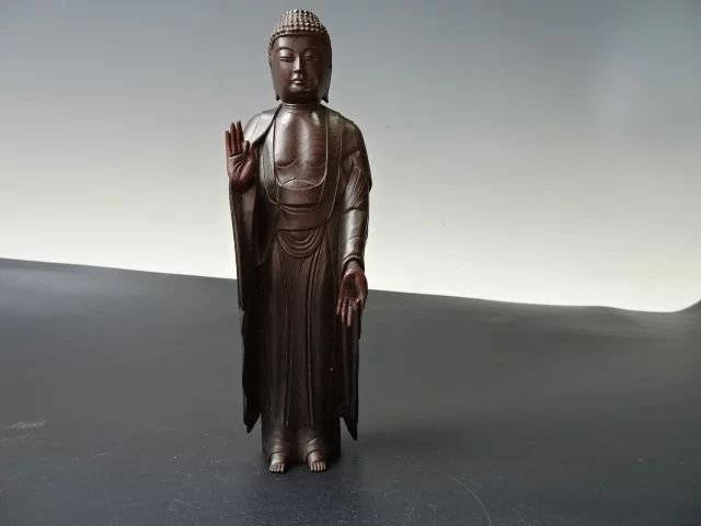A carved Chinese Buddhist figure