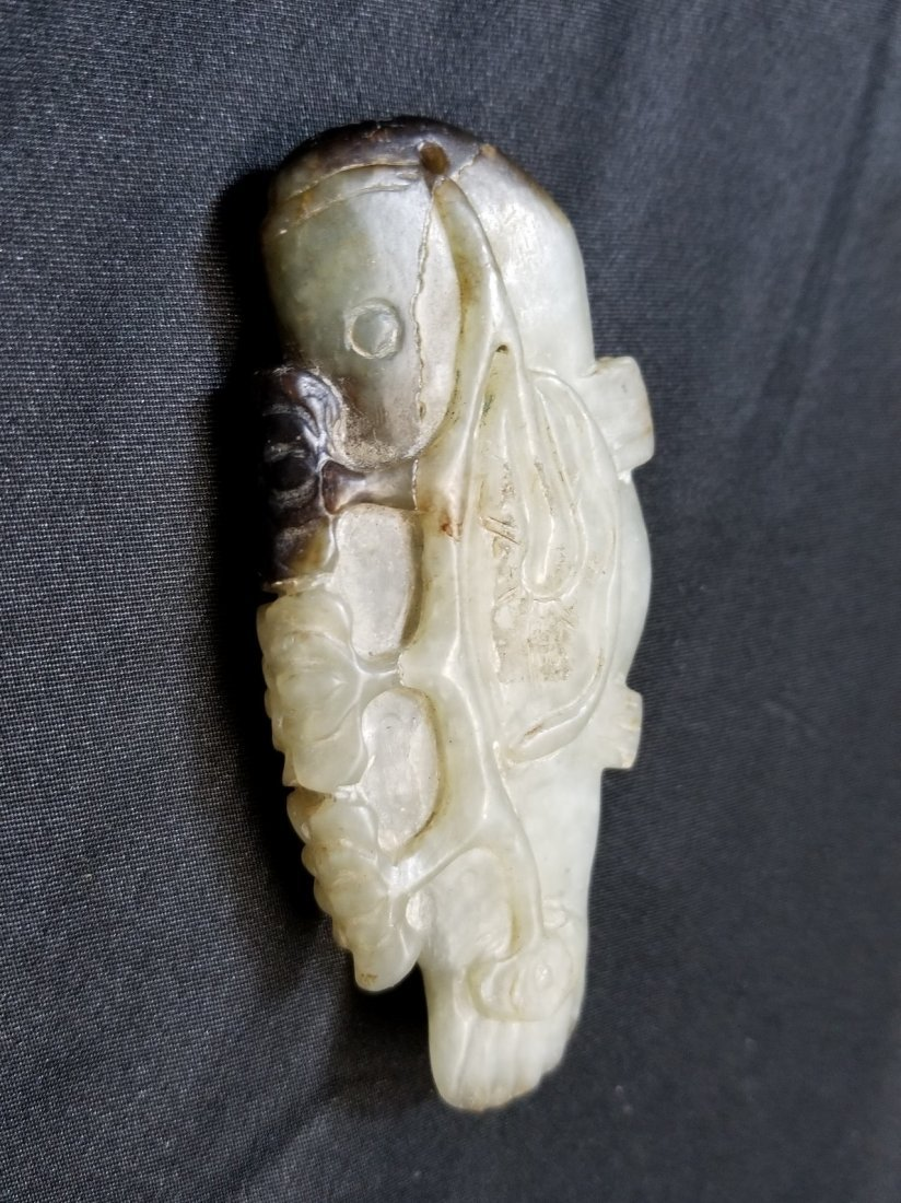 A carved fish Chinese  jade