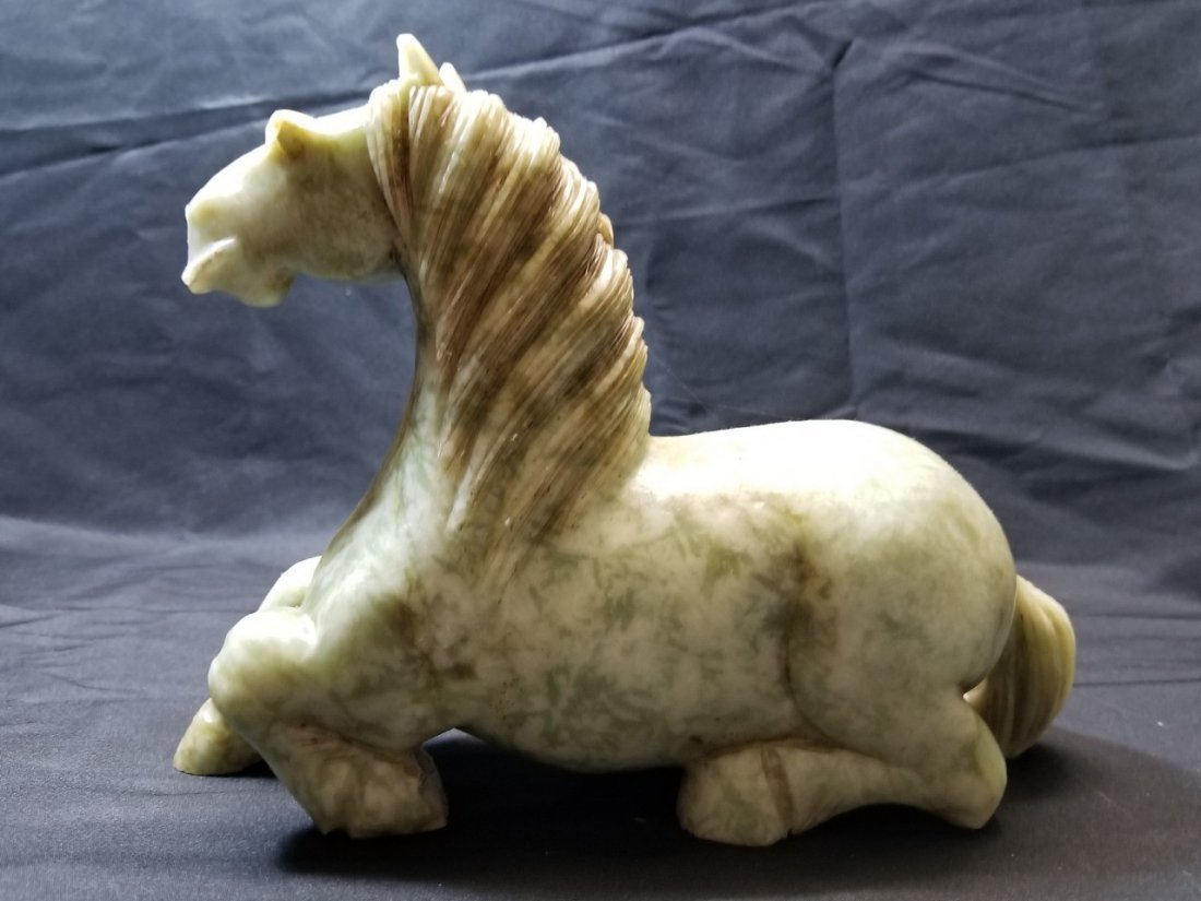 Large carved  stone horse