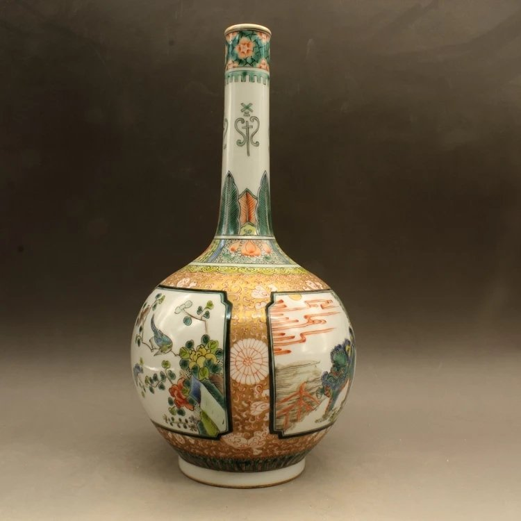 kangxi mark Chinese famille rose porcelain vase - 2