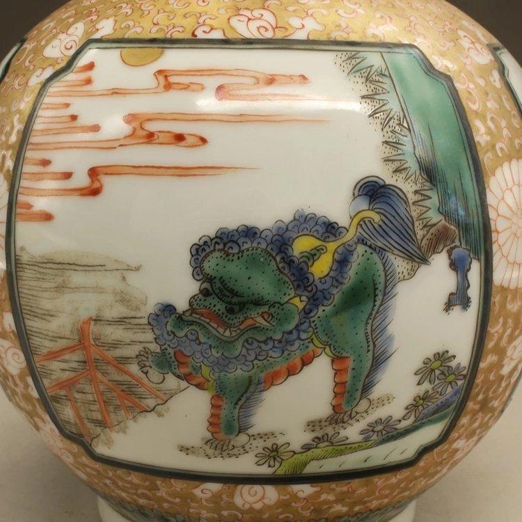 kangxi mark Chinese famille rose porcelain vase - 4