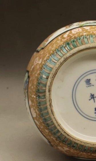 kangxi mark Chinese famille rose porcelain vase - 5