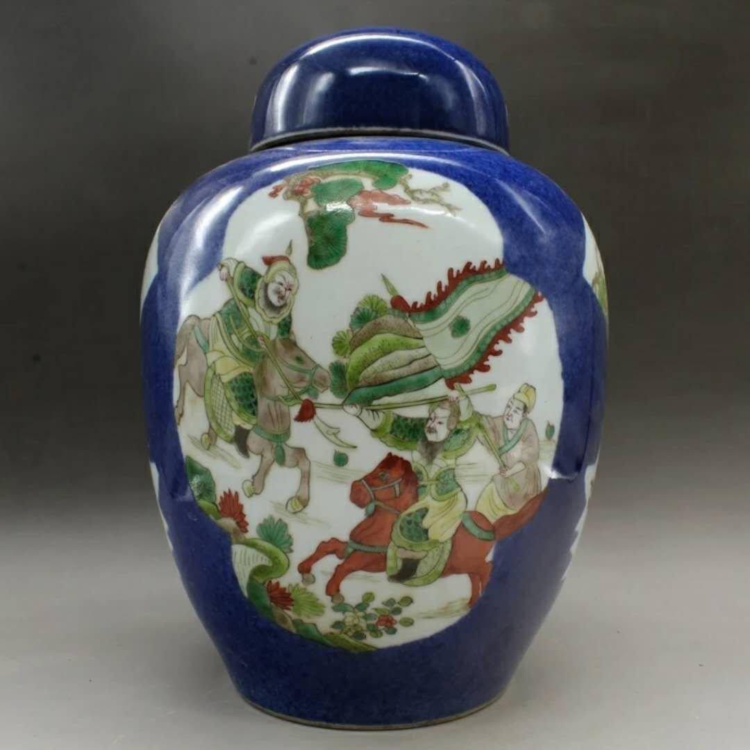 A famille rose porcelain jar