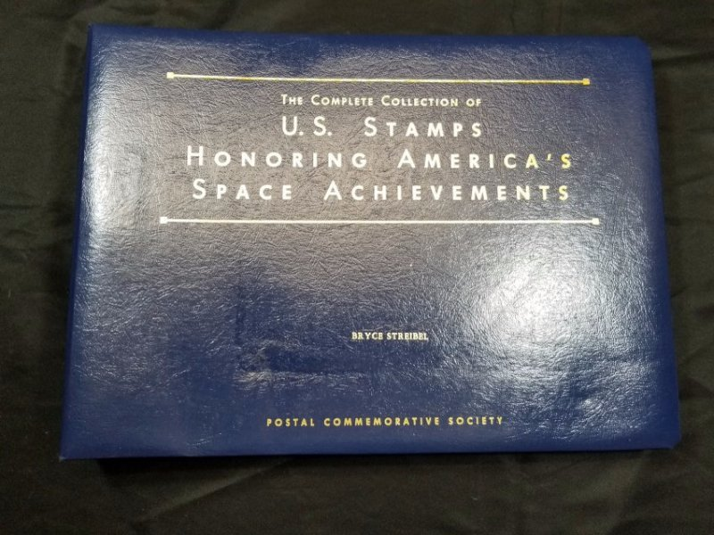 stamp album of space collection
