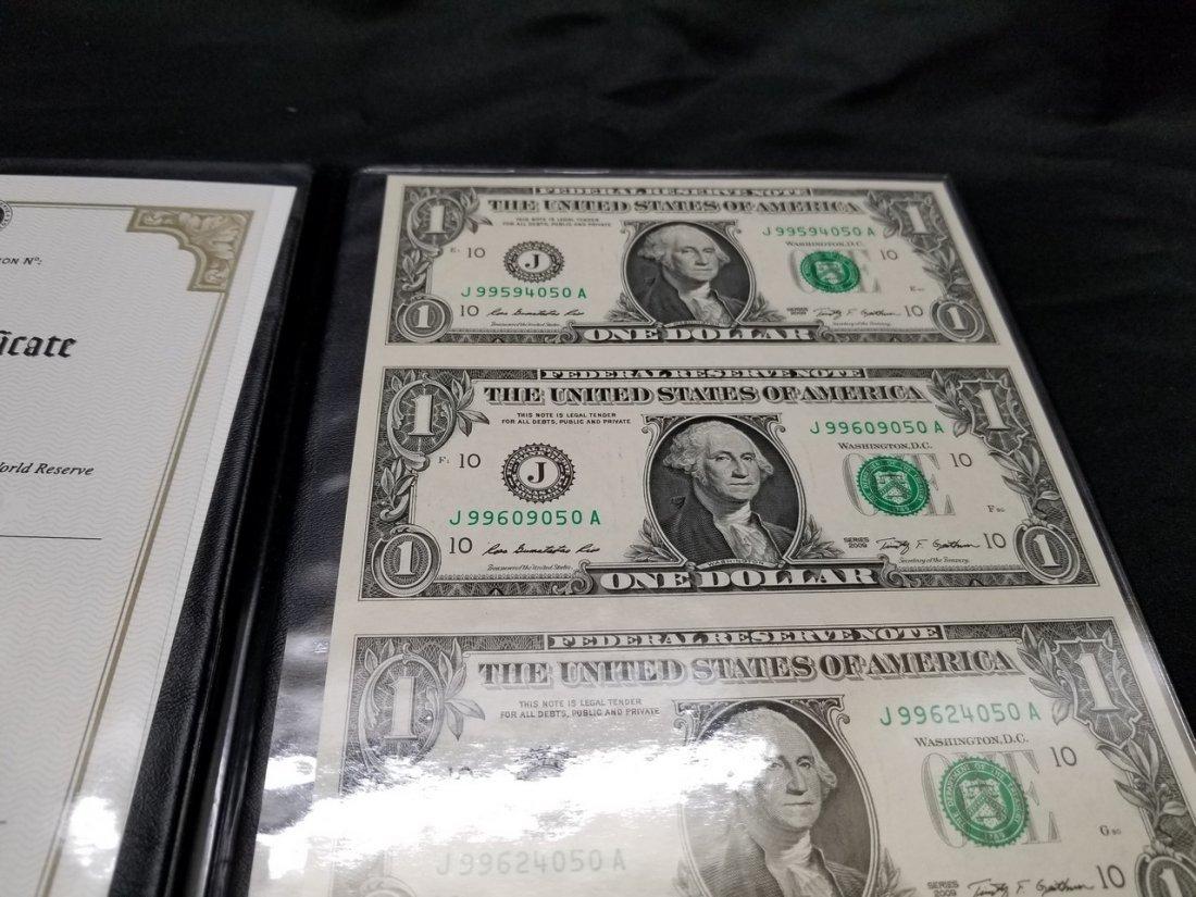 Uncut four America dollar bill - 2