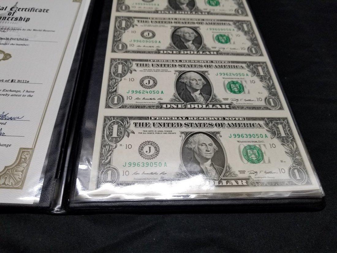 Uncut four America dollar bill - 3