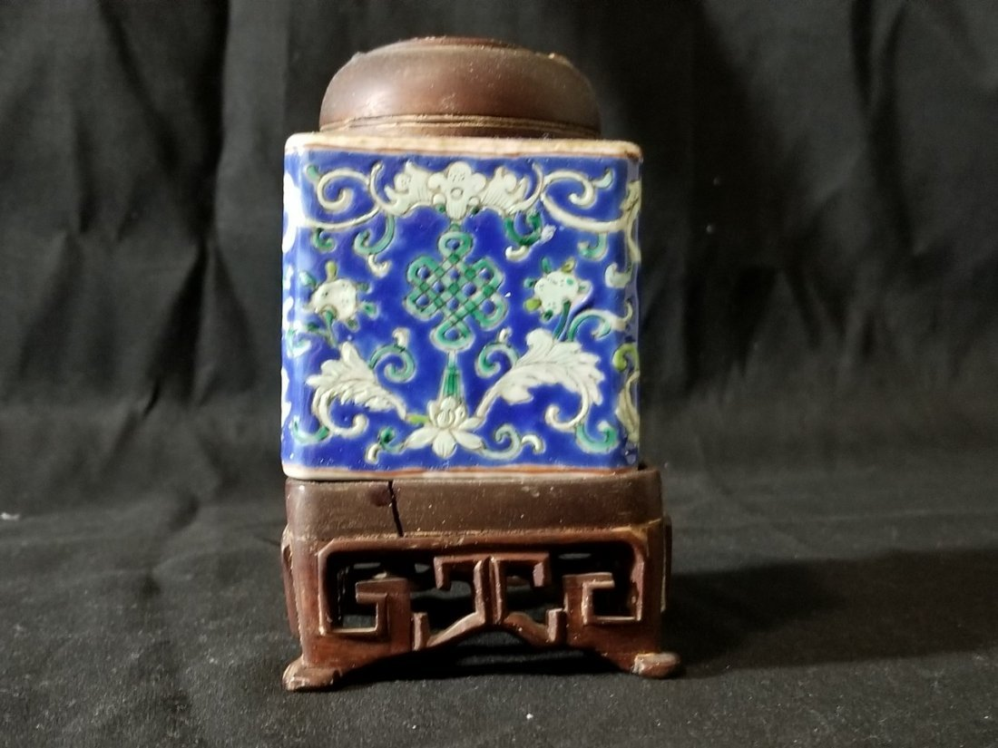 Republic Chinese porcelain tea box