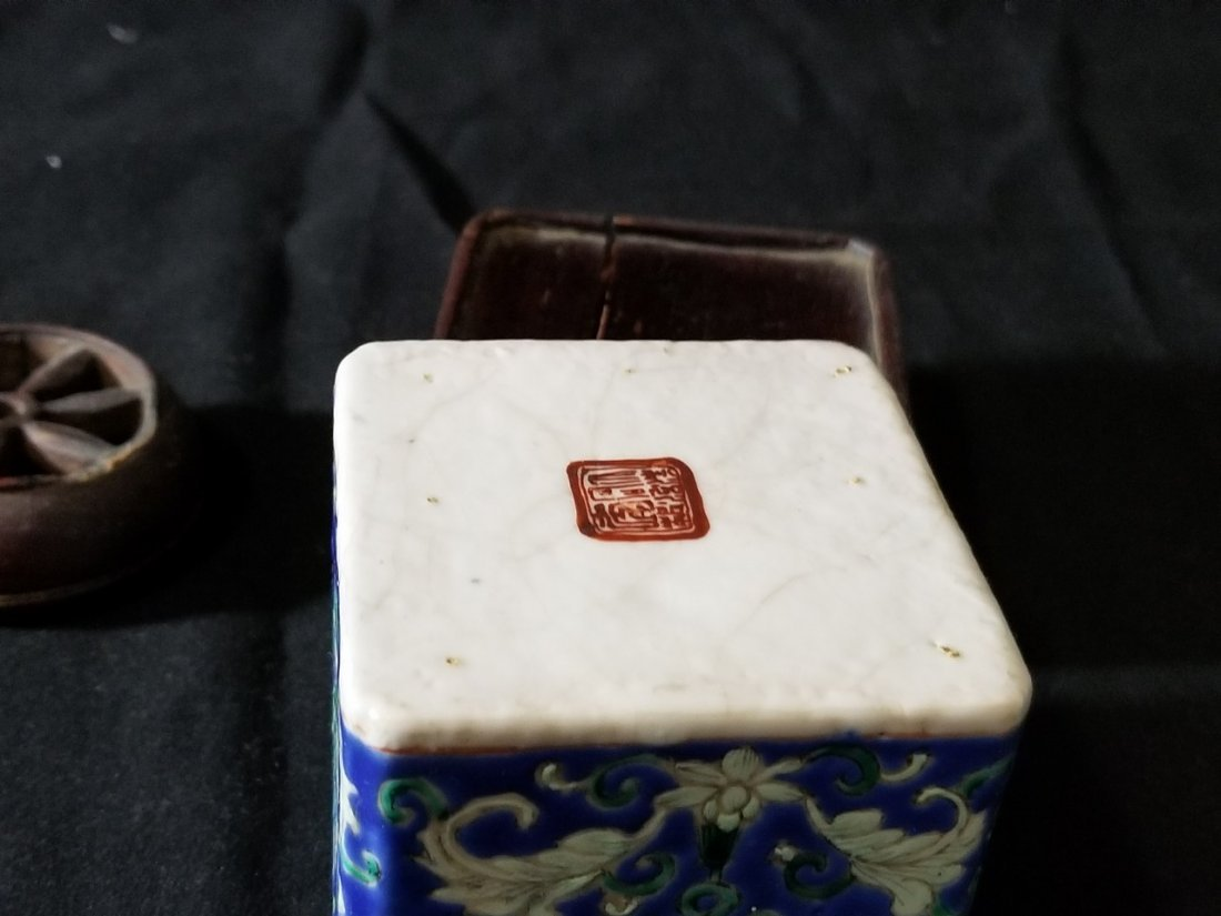 Republic Chinese porcelain tea box - 6