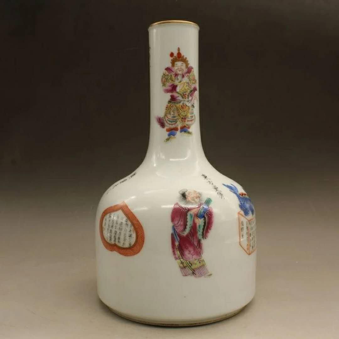 A famille rose porcelain hero vase