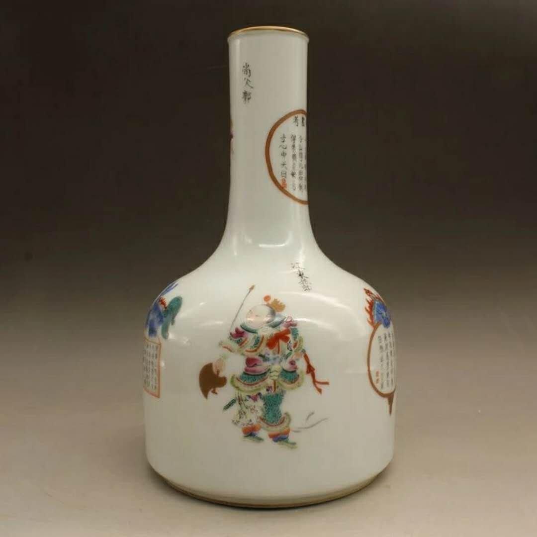 A famille rose porcelain hero vase - 3
