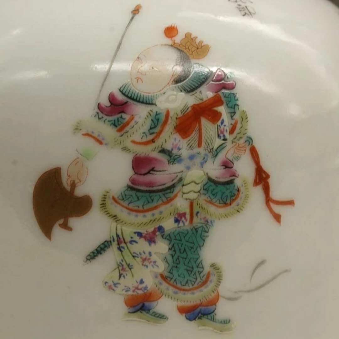 A famille rose porcelain hero vase - 4