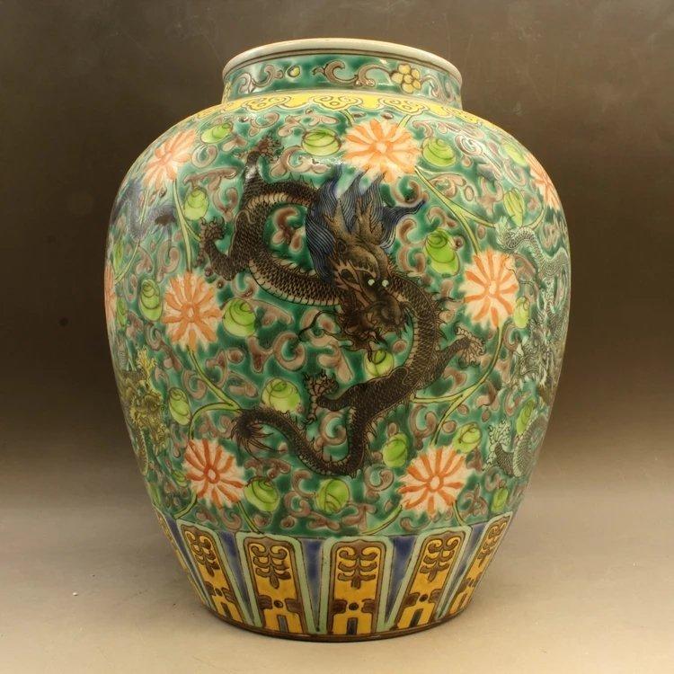 Light blue glazed Chinese double ear porcelain vase
