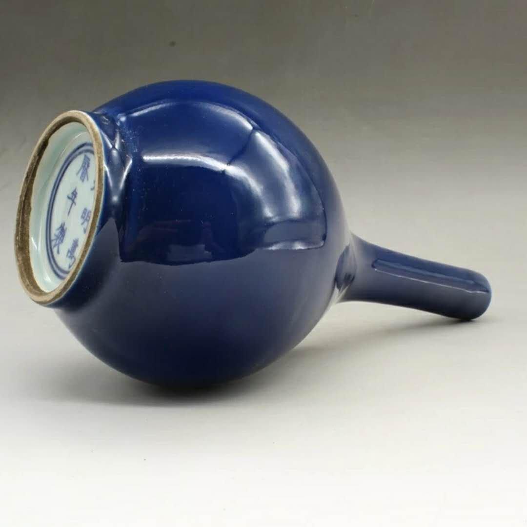 wanli Chinese blue glazed porcelain vase - 3