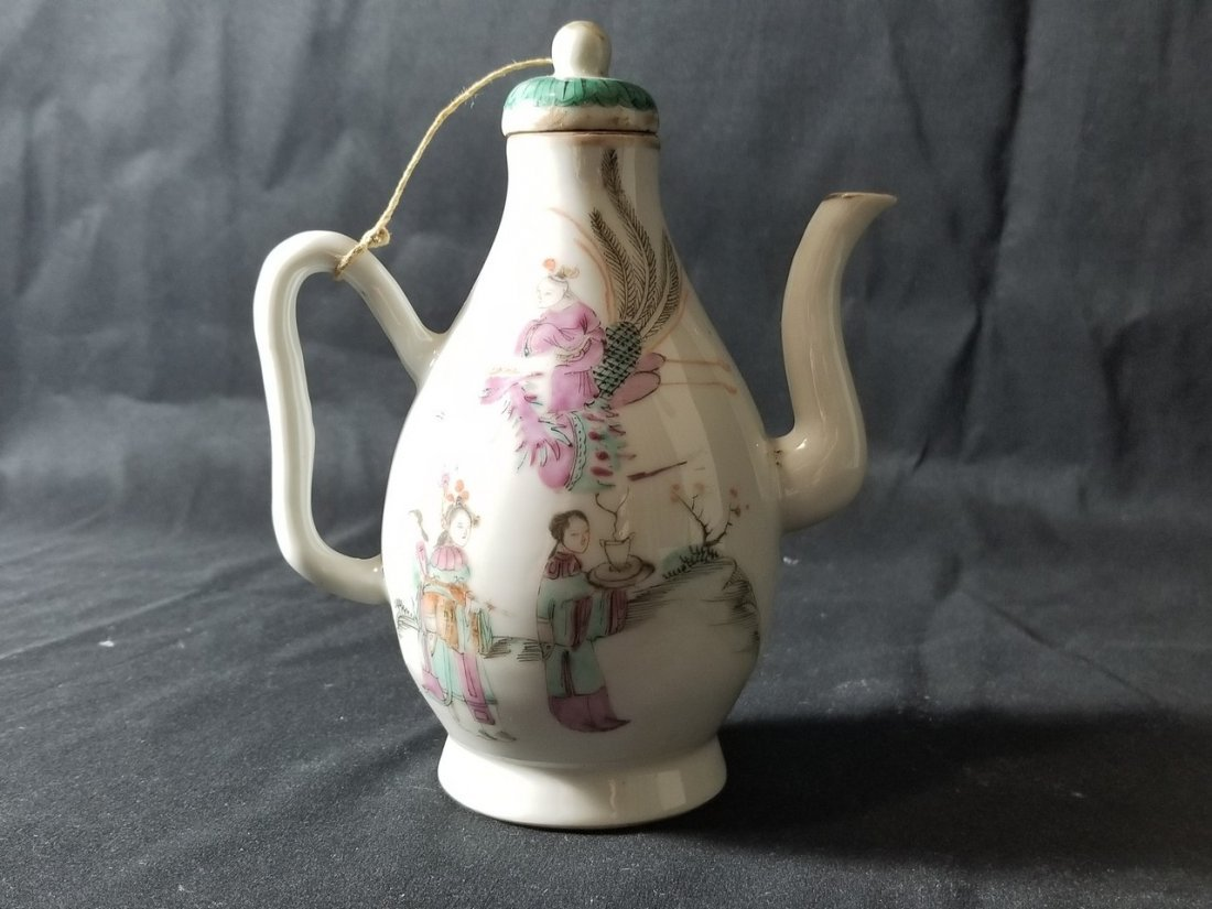 A famille rose porcelain steam pot