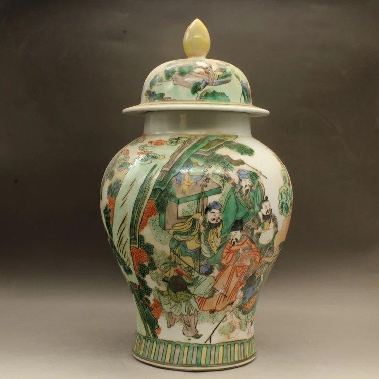 kangxi mark Chinese famille rose porcelain jar