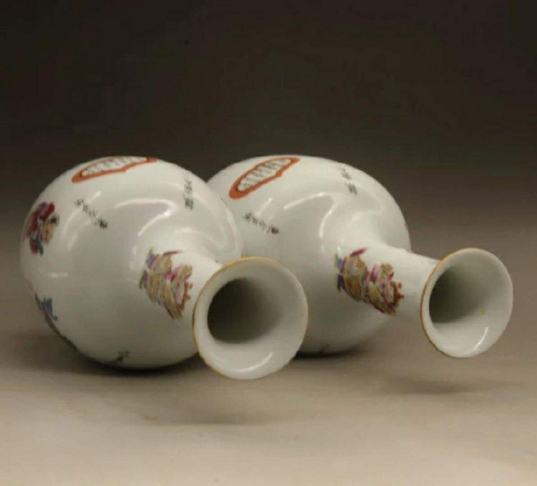 Fine Chinese famille rose porcelain vases - 3