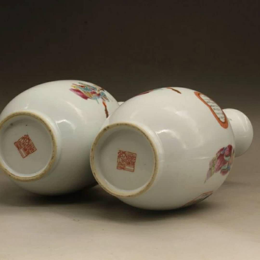 Fine Chinese famille rose porcelain vases - 5