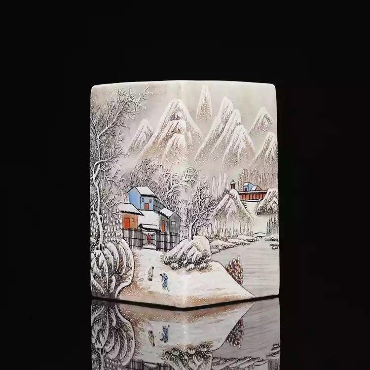 Republic Chinese porcelain brusher