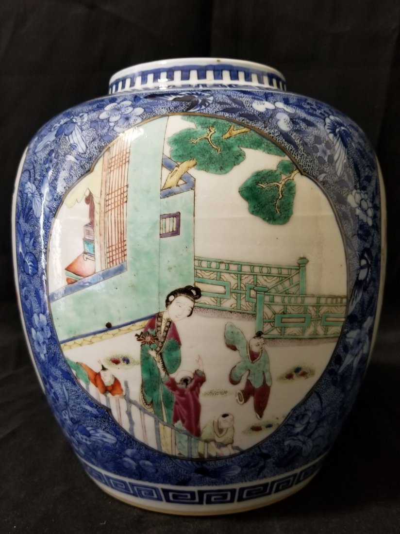 Fine Chinese Kangxi mark famille rose porcelain jar