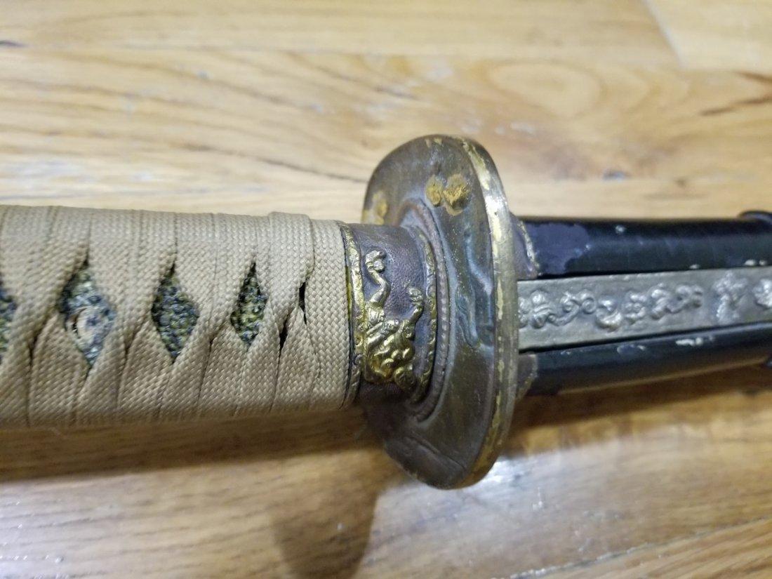 World war 2 Japanese katana sword - 3