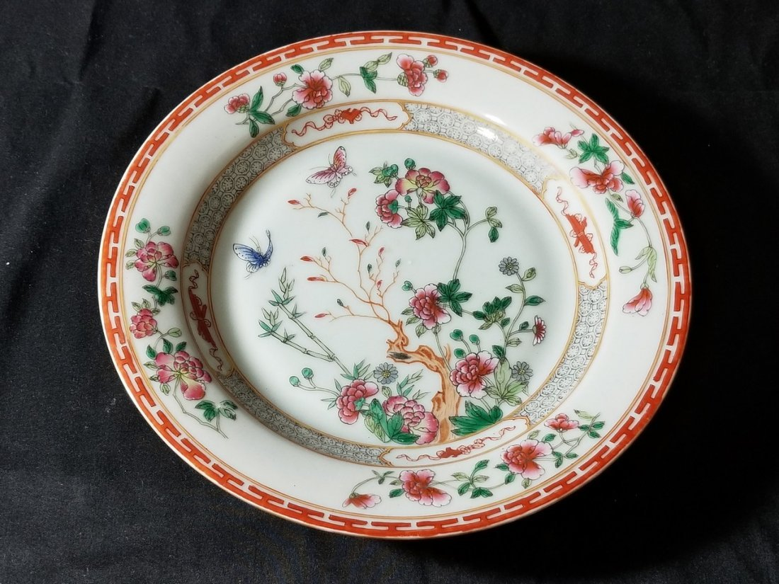18 Century Chinese famille rose porcelain plate