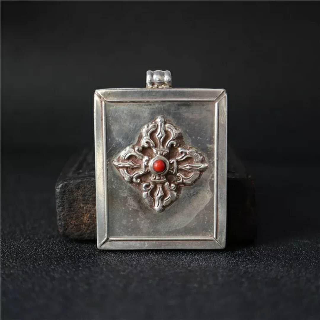 Vintage Tibetan Thankga case