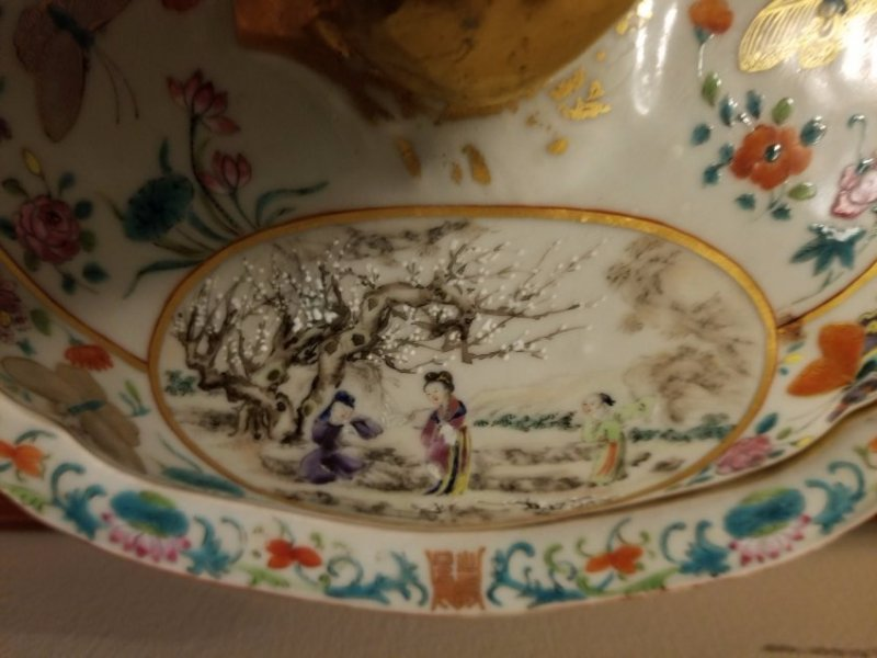Excellent Chinese export porcelain cover bowl - 3
