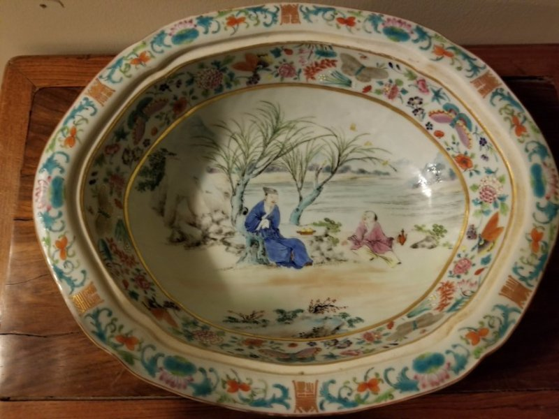 Excellent Chinese export porcelain cover bowl - 5