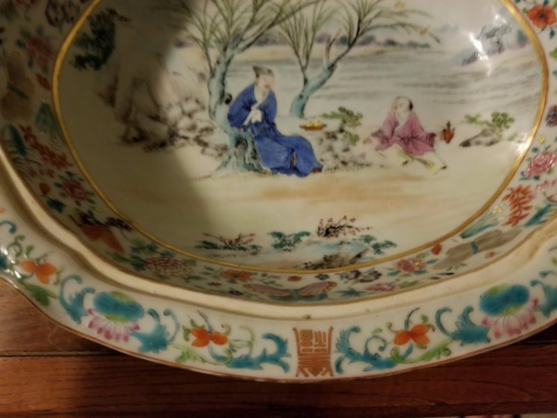 Excellent Chinese export porcelain cover bowl - 7