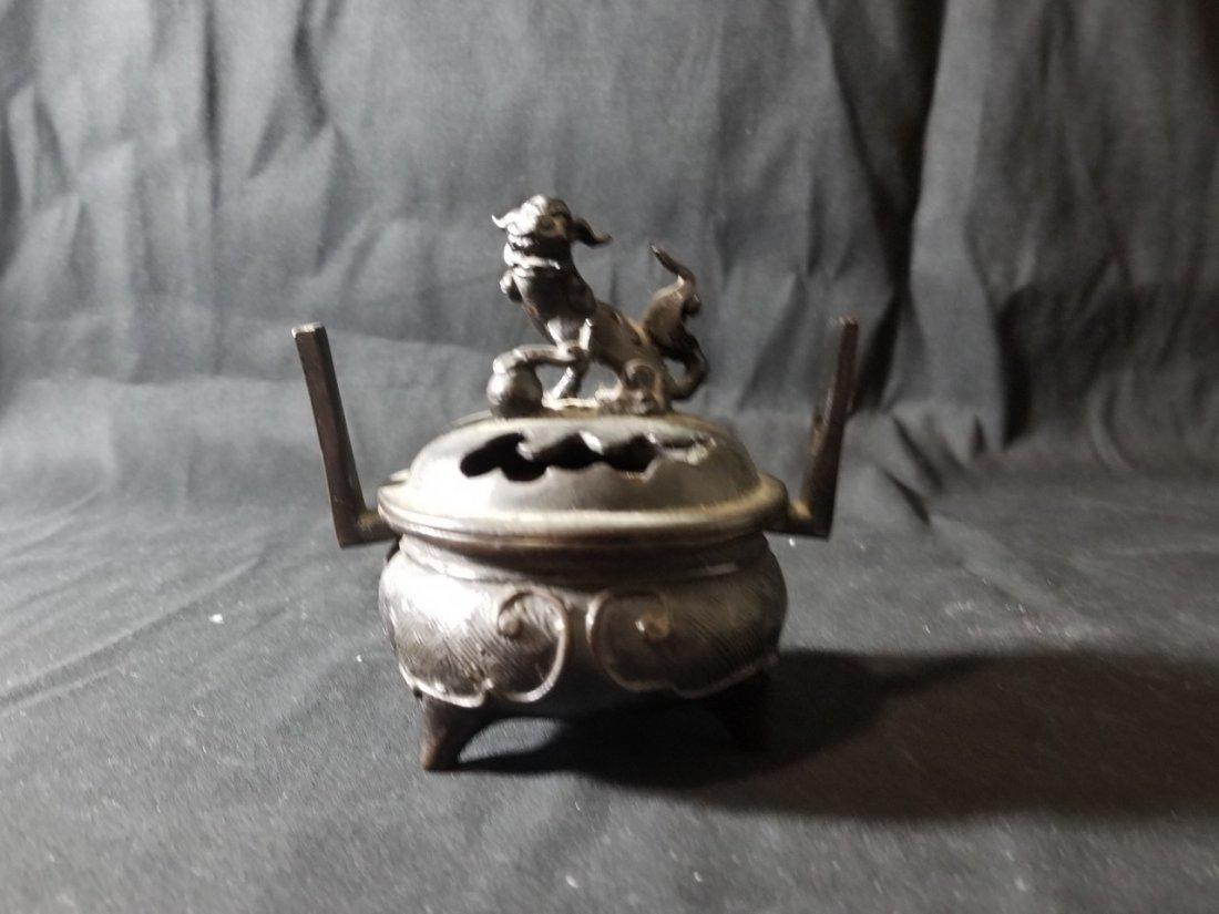Vintage Chinese bronze burner censer
