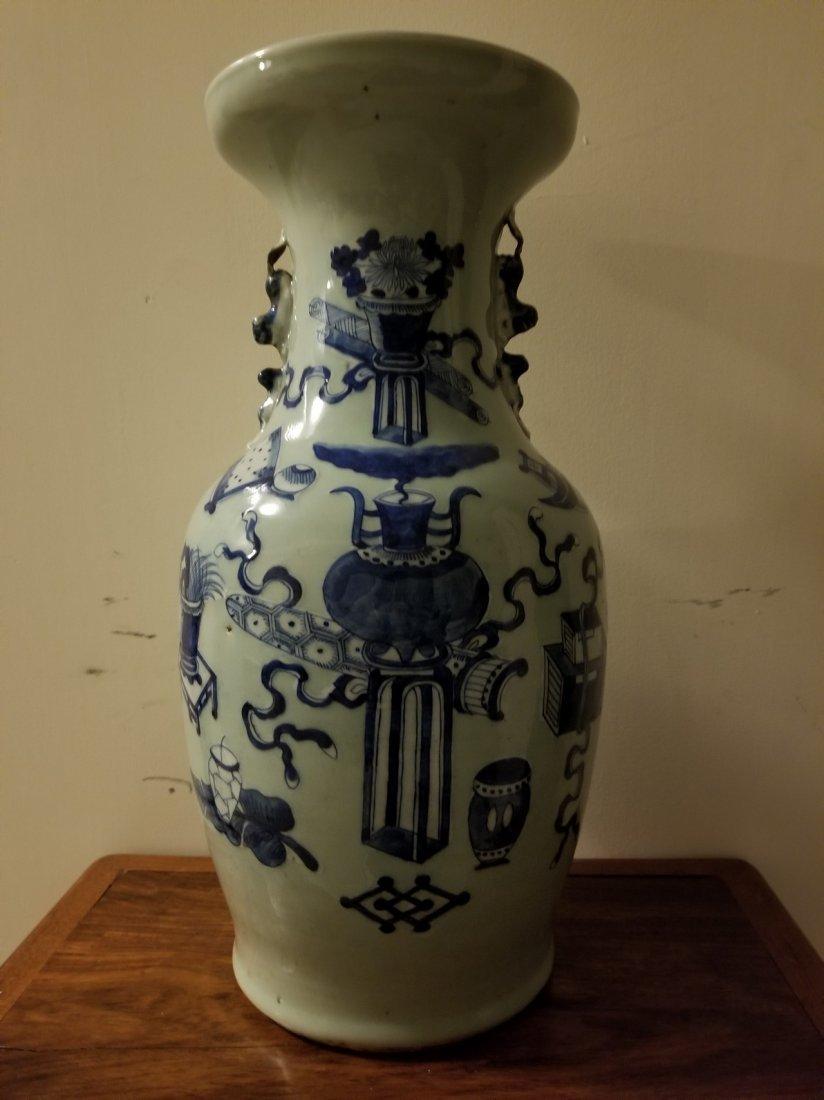 Extra large Chinese B/W porcelain vase