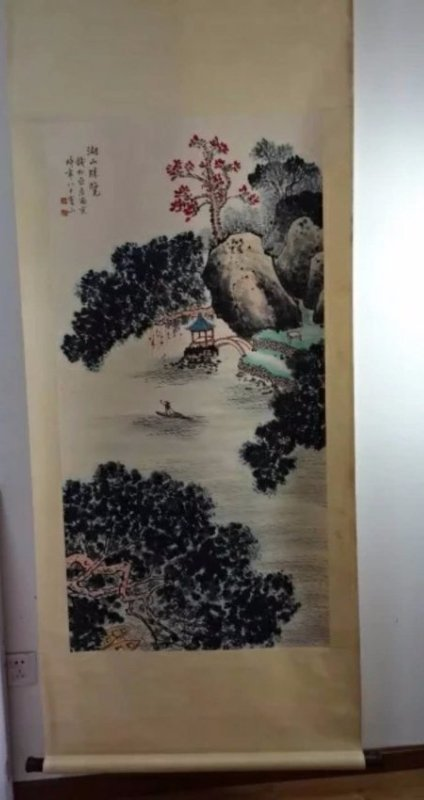 A hand painted Chinese ink painting