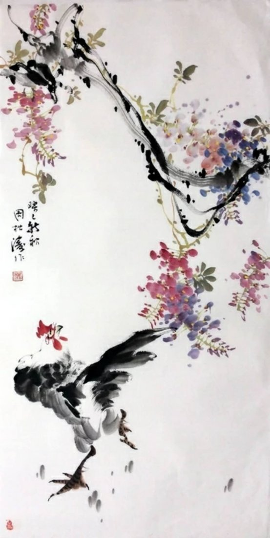 Excellent Chinese ink color painting