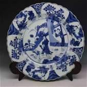 A B/W porcelain plate