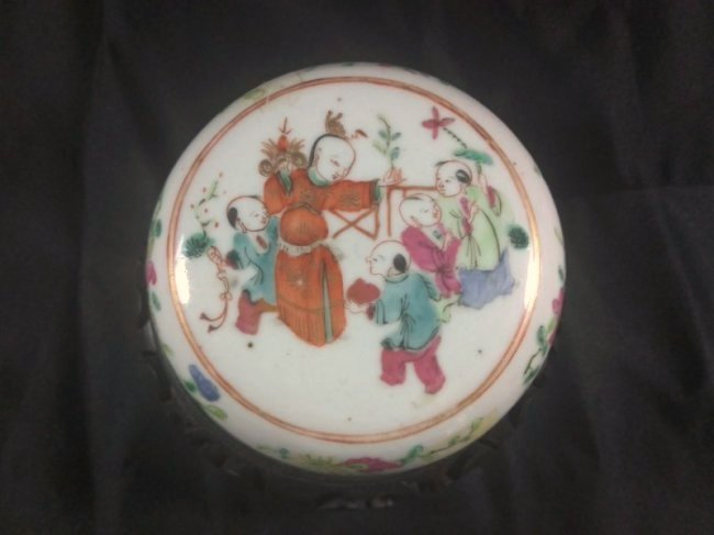 A republic period Famille rose porcelain ink pad