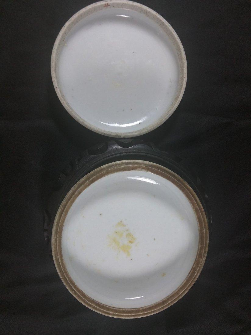 A republic period Famille rose porcelain ink pad - 3