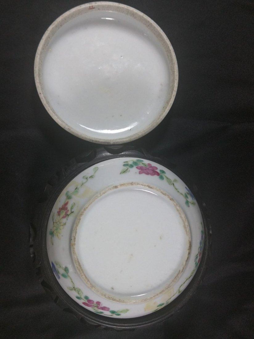 A republic period Famille rose porcelain ink pad - 4