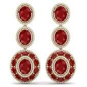 3284 CTW Royalty Designer Ruby  VS Diamond Earrings