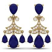 1197 CTW Royalty Sapphire  VS Diamond Earrings 18K