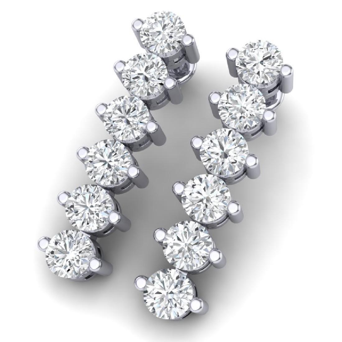 3 CTW Certified VS/SI Diamond Earrings 18K White Gold