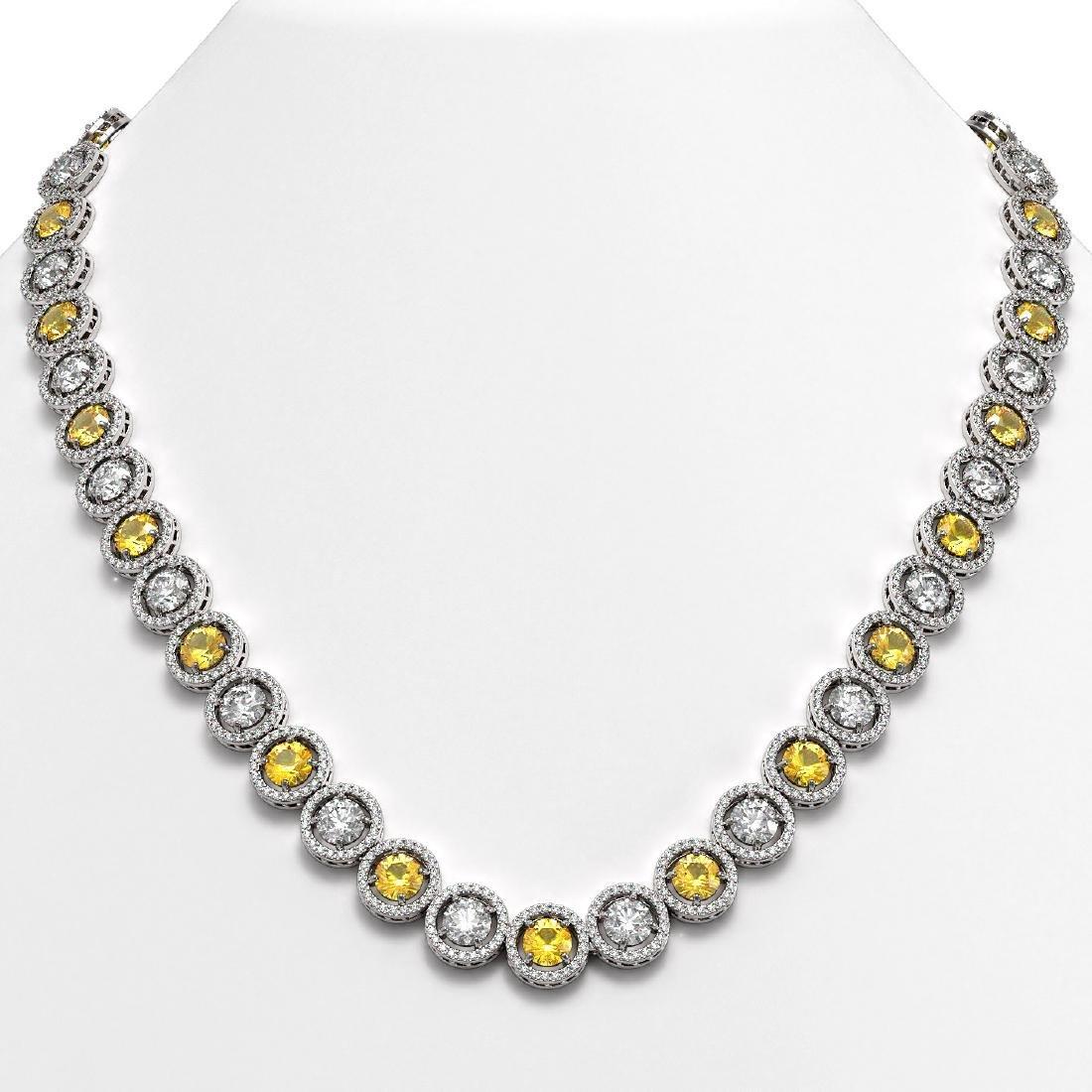 35.54 CTW Canary Yellow & White Diamond Designer