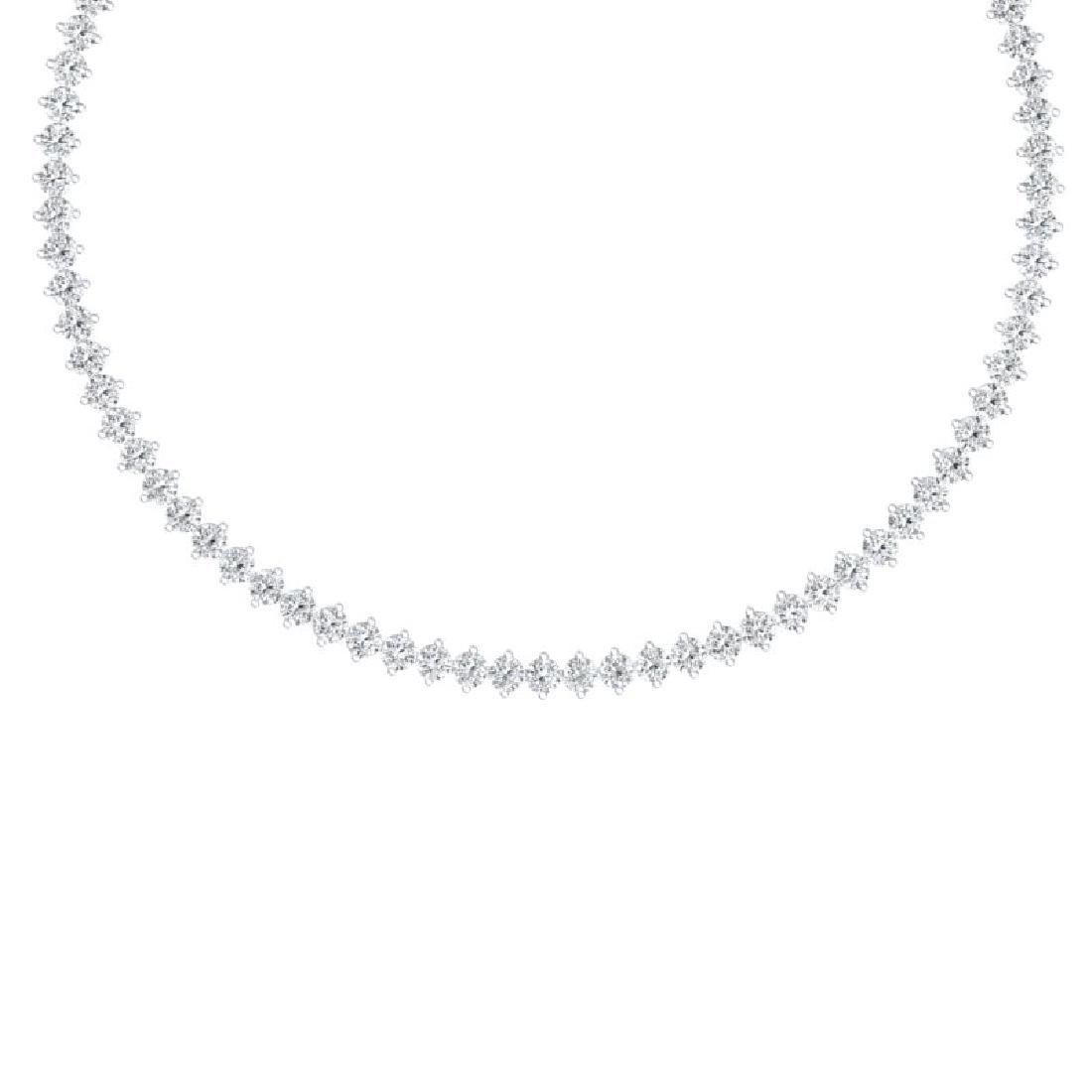 30 CTW Certified VS/SI Diamond Necklace 18K White Gold